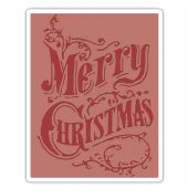 Sizzix Texture Fades A2 Embossing Folder - Christmas Scroll - 661609